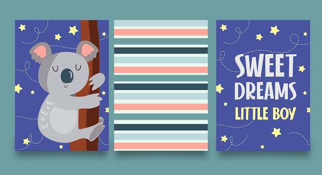 Sweet dreams little boy set card