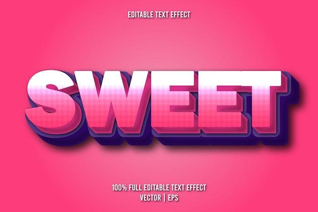 Sweet editable text effect comic style