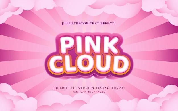 핑크색 구성표 유사 및 클라우드에서 편집 가능한 텍스트 효과