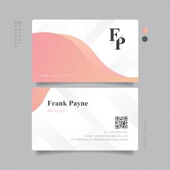 Sweet elegant business card minimal pastel