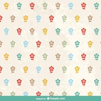 Sweet floral retro pattern