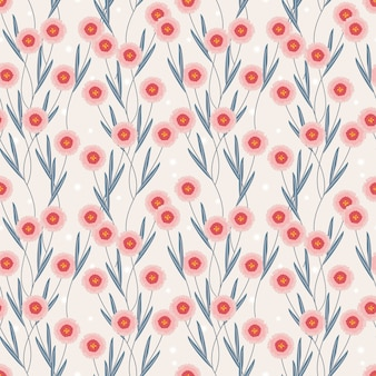 Sweet flower seamless pattern.