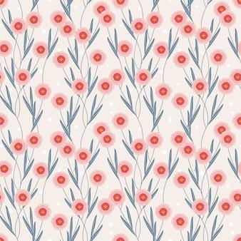 甘い花のシームレスなパターン。