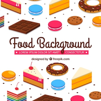 Sweet food background