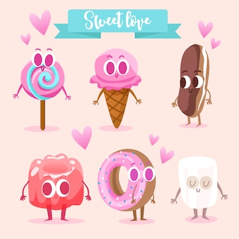Sweet food characters collection