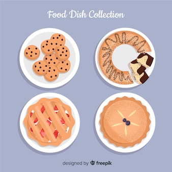 Sweet food dishes collection