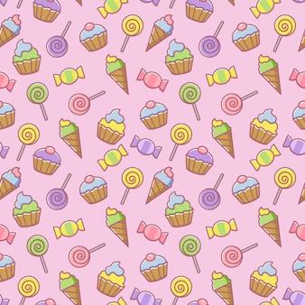 Sweet food seamless pattern