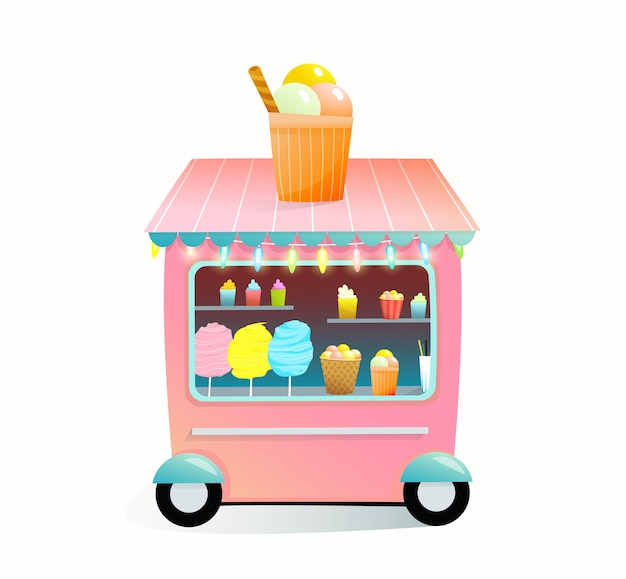 Sweet food shop full of candy cotton