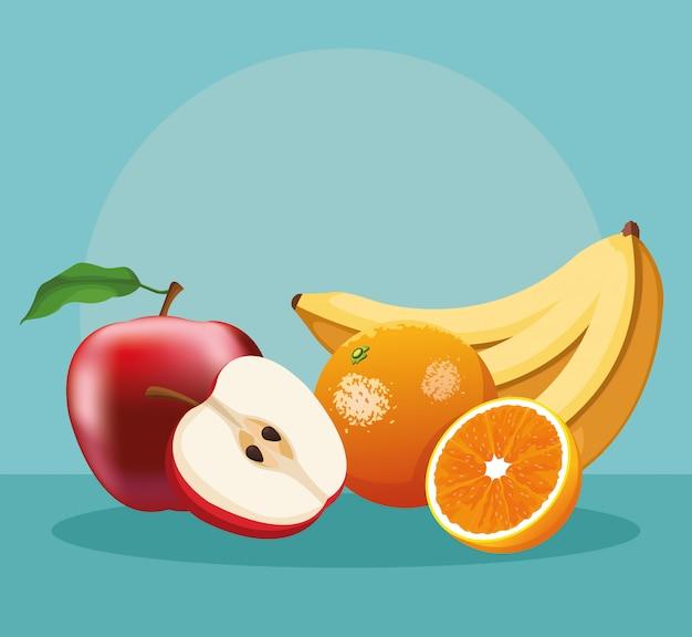 Sweet fruits food
