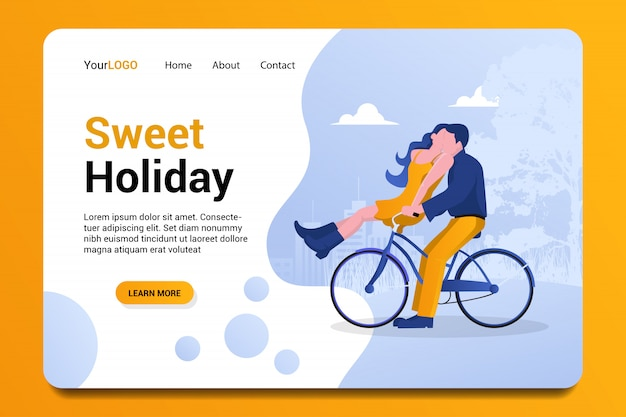 Sweet holiday landing page background.