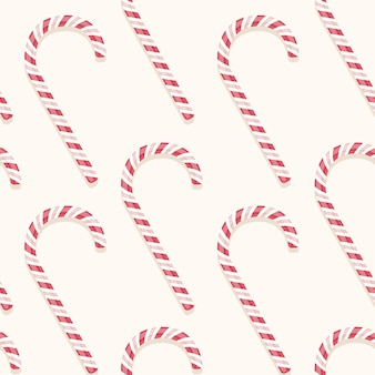 Sweet holiday vector candy cane seamless pattern
