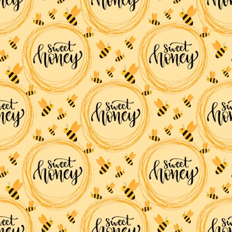 Sweet honey concept background