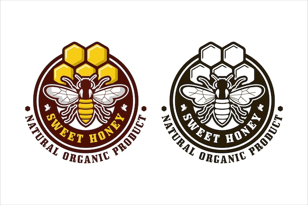 Sweet honey design logo