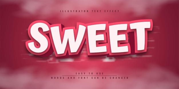 Шаблон редактируемого текстового эффекта sweet illustrator