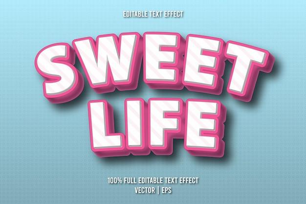 Sweet life editable text effect comic style