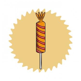 Sweet lollipop candy