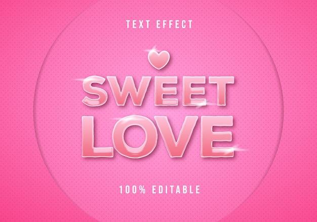Сладкая любовь текстовый эффект редактируемый