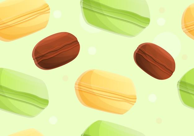 Sweet macaroon pattern, cartoon style