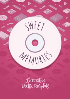 Sweet memories vector decorating design