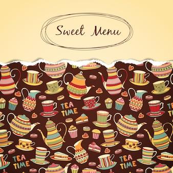 Sweet menu