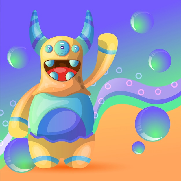 Sweet monster illustration vector