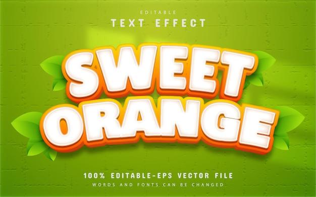 Sweet orange text effect editable