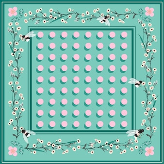 Sweet pastel beautiful shawl scarf print.bright polka dots