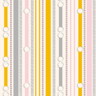 Sweet pastel colour of seamless pattern silver metal belt vertical stripe vintage mood