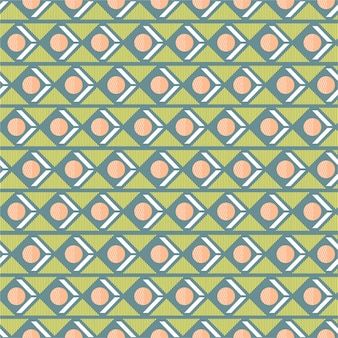 Sweet and pastel geometric seamless pattern mix with circle triangle stripe in horizontal retro mood design for fashion, fabric, wallpaper, wrapping and all prints