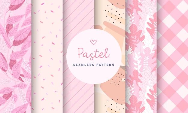 달콤한 파스텔 원활한 패턴 컬렉션입니다.