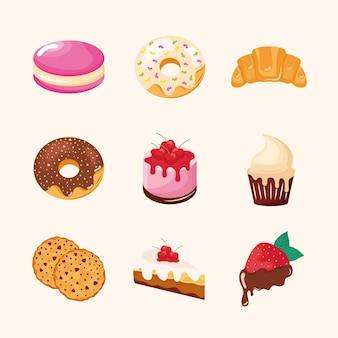 Sweet pastries set