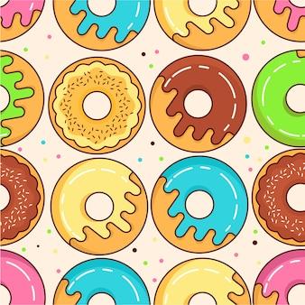 달콤한 과자 도넛 원활한 패턴
