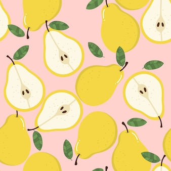 Sweet pear seamless pattern.