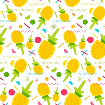 Sweet pineapple seamless pattern