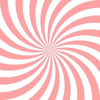 甘いピンクキャンディー抽象的ならせん状の背景。