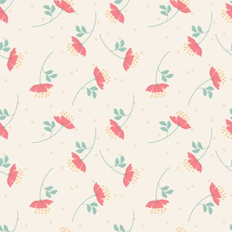 Sweet pink flower seamless pattern. sweet flower concept.