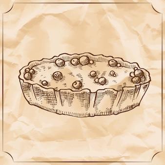 Сладкий ретро пирог с ягодами. относитесь ко дню рождения