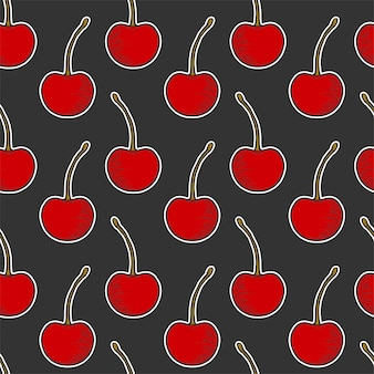 Sweet ripe cherry seamless pattern