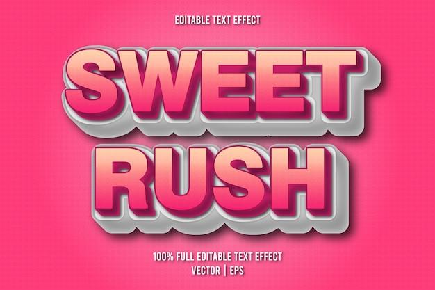 Sweet rush editable text effect comic style