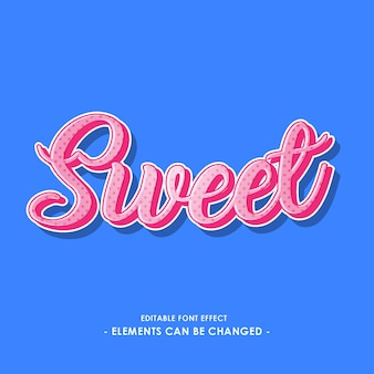 Sweet script font effect for sticker or title