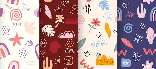 달콤한 완벽 한 패턴 컬렉션입니다.