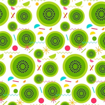Sweet seamless pattern from tasty kiwi for print, fabric, textile, wallpaper. vector