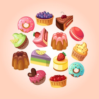 Sweet shop background illustration