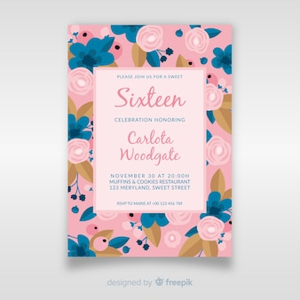 Sweet sixteen birthday invitation