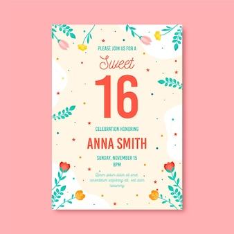 甘い16歳の誕生日の招待状