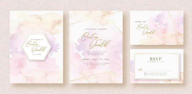 Sweet splash colors background on invitation card