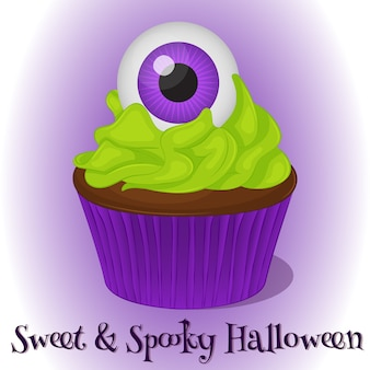 Sweet and spooky cupcake
