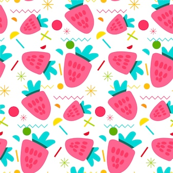 Sweet strawberry seamless pattern