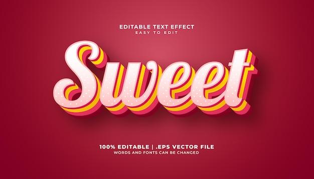 Редактируемый текстовый эффект в сладком стиле