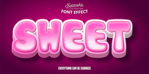 달콤한 텍스트, 3d 편집 가능한 글꼴 효과
